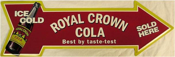 Royal Crown Cola (arrow)