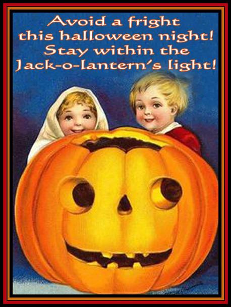 Jack-o-lantern pumpkin light metal sign