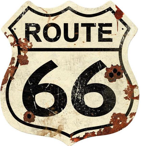 Route 66 Rustic Shield
