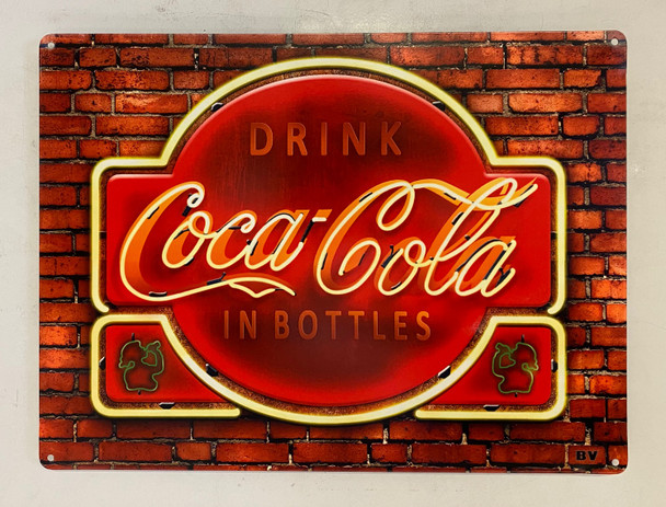 Coca-Cola Sign on Brick Wall by Michael Fishel
