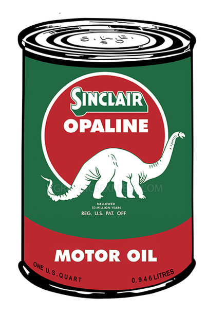 """Sinclair Gas Can 18"""" Metal Sign"""