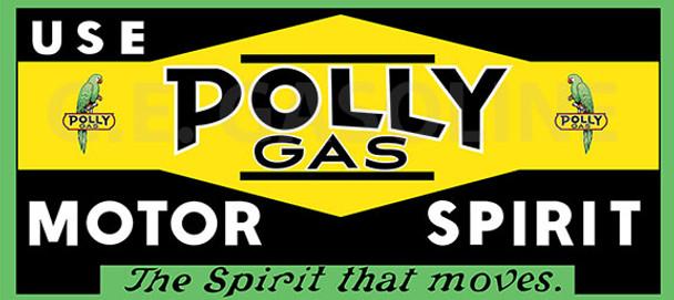 POLLY GAS MOTOR SPIRIT Metal Sign