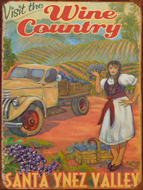 Visit the Wine Country Santa Ynez Valley Metal Sign