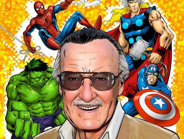 Stan Lee Marvel Heroes Metal Sign