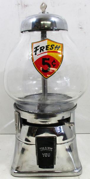 Regal 5c Chrome Peanut / Candy Dispenser Circa 1940's