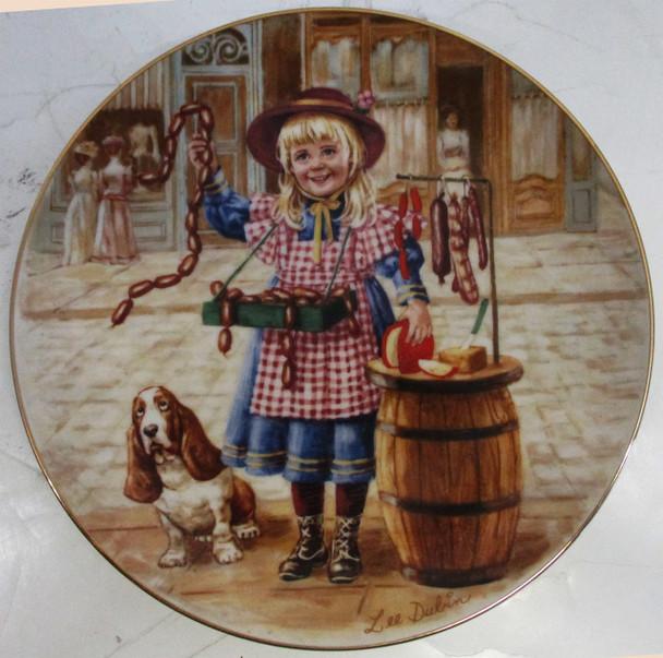 """""""Cobblestone Deli"""" Lee Dubin Collector Plate"""