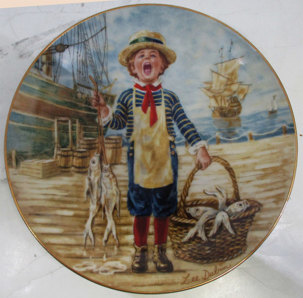 """""""Today's Catch"""" Lee Dubin Collector Plate"""