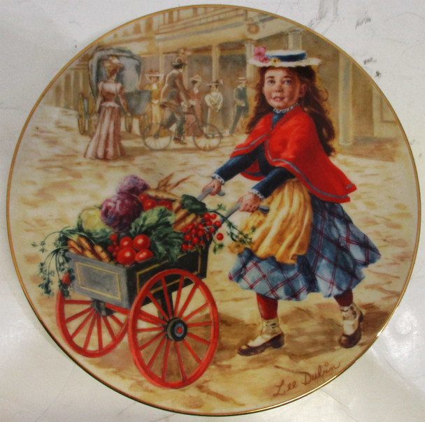 """""""Just Picked"""" Lee Dubin Collector Plate"""