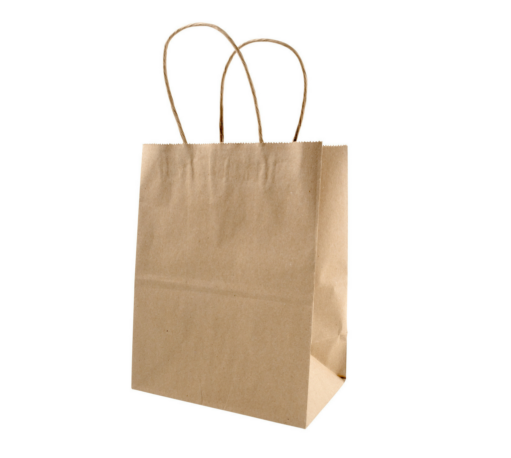 Brown Paper Boutique Bag