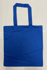 "Canvas Tote - Royal Blue - 15"" x 16"""