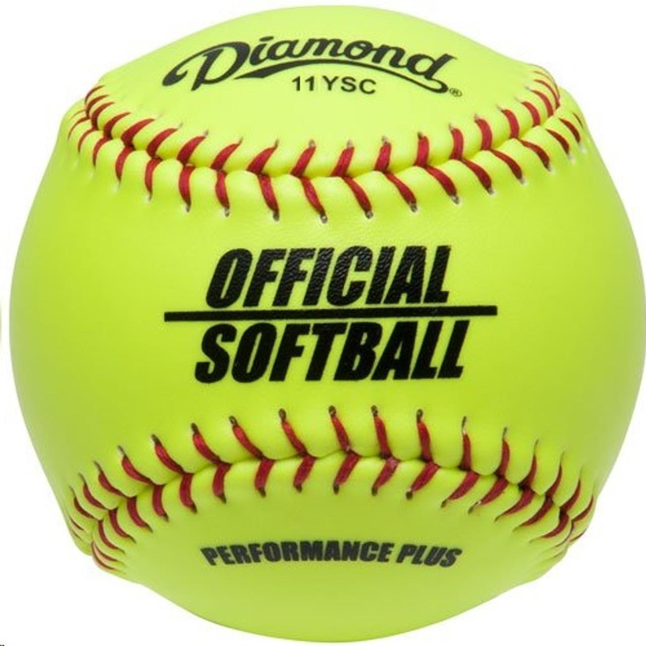 synthétique optique COVER BALLES de softball Lot de 6 11YOS /_ B5 environ 27.94 cm Diamond 11 in