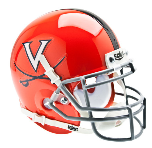 Virginia Cavaliers Alternate Orange/Gray Schutt Mini Authentic Helmet