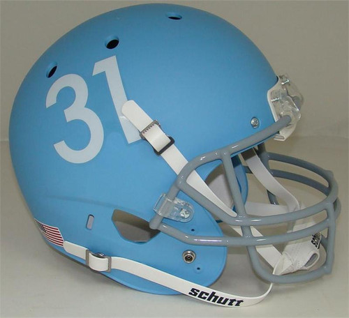 Kansas Jayhawks Alternate Matte Columbia Blue Schutt Full Size Replica XP Football Helmet