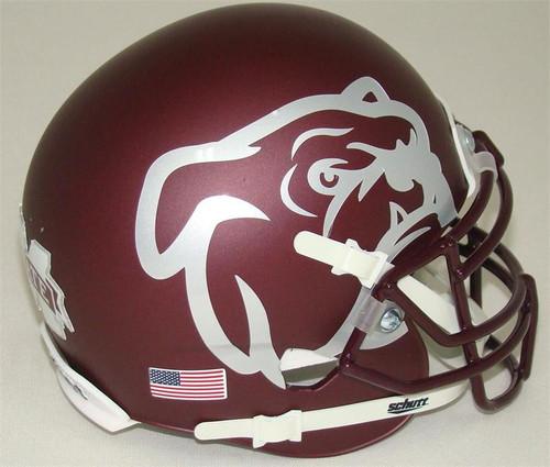 Mississippi State Bulldogs Alternate Red Bulldog Schutt Mini Authentic Helmet