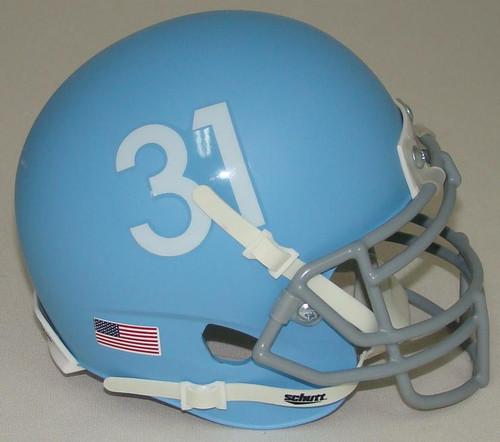 Kansas Jayhawks Alternate Matte Columbia Blue Schutt Mini Authentic Helmet