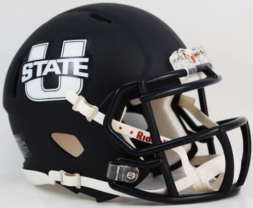 Utah State Aggies Alternate Navy Revolution NCAA SPEED Mini Helmet