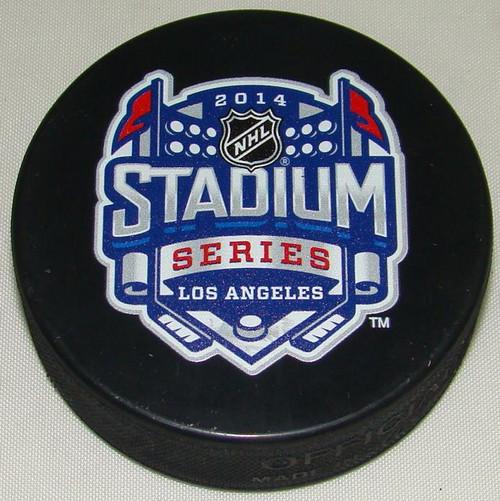 2014 NHL Stadium Series Los Angeles Sherwood Souvenir Game Puck