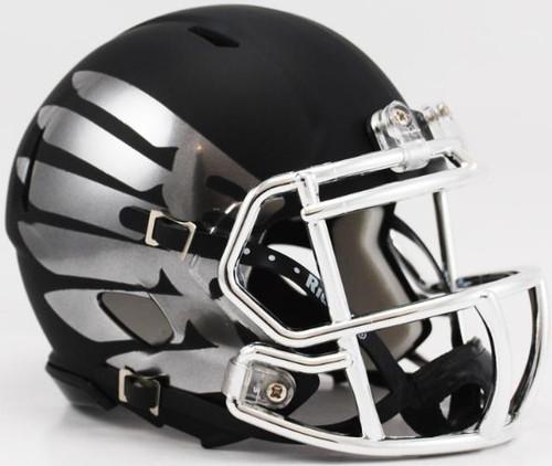 Oregon Ducks LiquidMetal Speed Mini Football Helmet Liquid Lightning HydroSkin Black