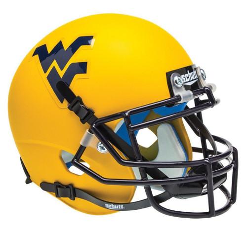 West Virginia Mountaineers Alternate Gold Schutt Mini Authentic Helmet