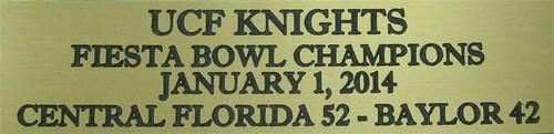 UCF Knights 2014 Fiesta Bowl Champions Full Size Football Helmet Display Case