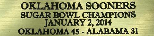 Oklahoma Sooners 2014 Sugar Bowl Champions Football Display Case