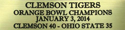 Clemson Tigers 2014 Orange Bowl Champions Mini Football Helmet Display Case