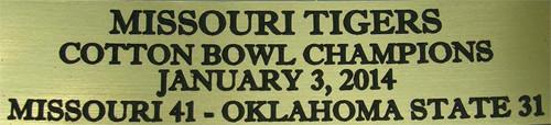 Missouri Tigers 2014 Cotton Bowl Champions Football Display Case
