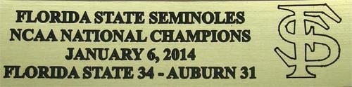 Florida State Seminoles 2014 BCS Bowl National Champions Football Display Case