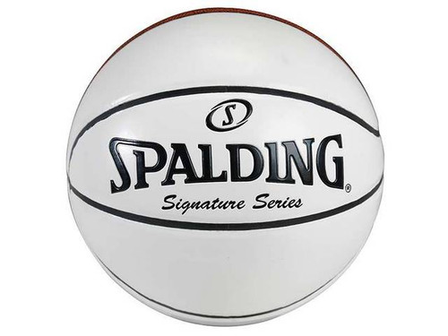 SPALDING 4 WHITE PANEL AUTOGRAPH SIGNATURE SERIES FULL SIZE BASKETBALL