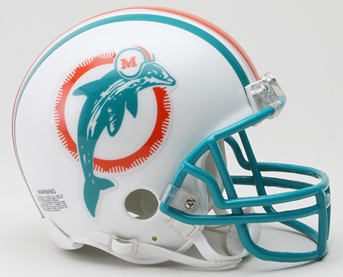 Miami Dolphins 1980-1996 Throwback Riddell Mini Helmet