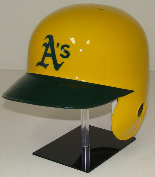 Oakland A's Rawlings Yellow LEC Throwback Full Size Baseball Batting Helmet