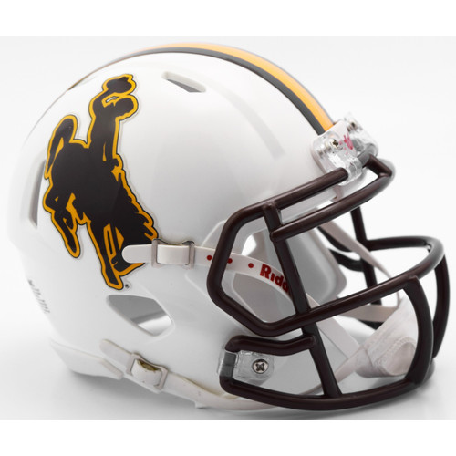 Wyoming Cowboys NCAA Riddell Speed Mini Helmet