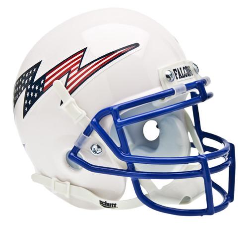 Air Force Falcons Alternate White Lightning Mini Helmet