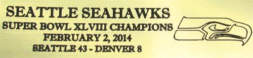 Seattle Seahawks Super Bowl XLVIII Champions Football Display Case
