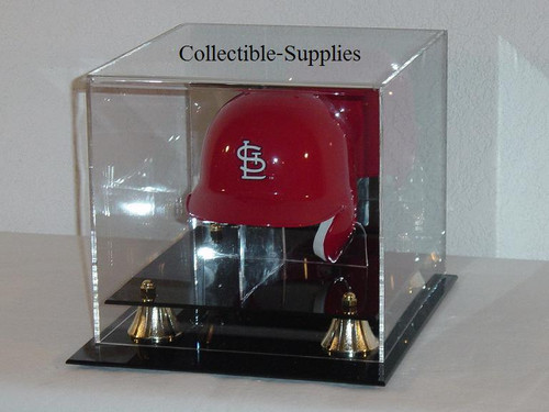 Deluxe Mini Baseball Helmet Display Case with Stand
