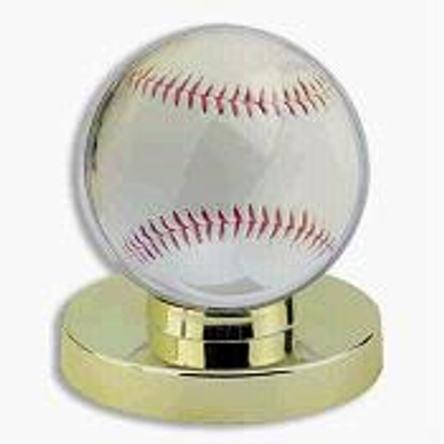 4 DELUXE GOLD BASE BASEBALL DISPLAY CASES
