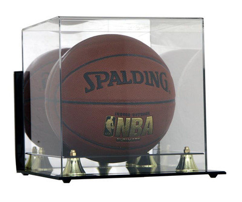 DELUXE FULL SIZE BASKETBALL WALL MOUNTABLE DISPLAY CASE