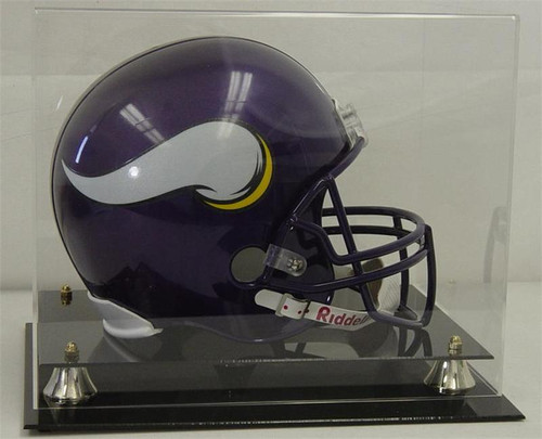 DELUXE FULL SIZE FOOTBALL HELMET DISPLAY with Clear Top