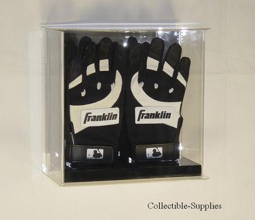 Double Baseball Batting Glove Wall Mountable Display
