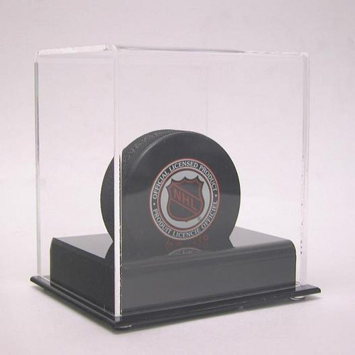DELUXE SINGLE HOCKEY PUCK DISPLAY
