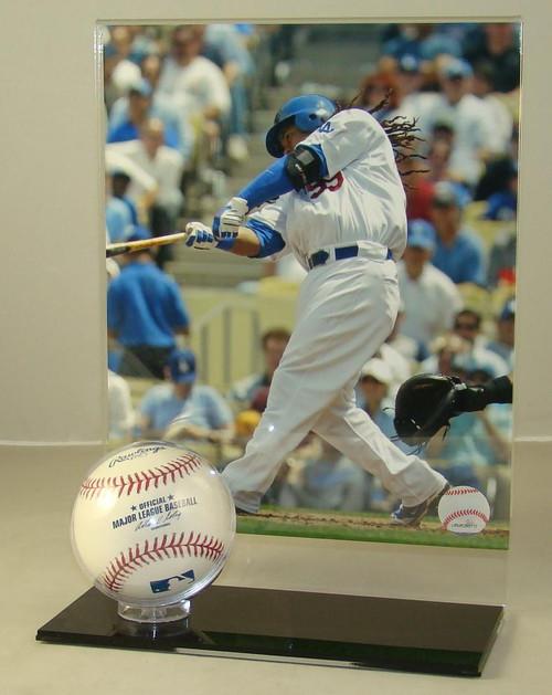 8 x 10 Vertical Photo and Baseball Display