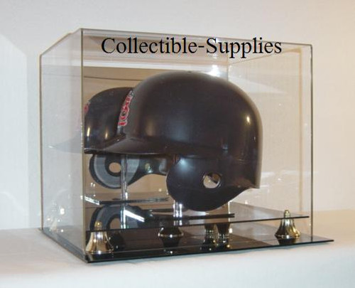 Deluxe Full Size Baseball Helmet (Horizontal Side View) Display Case with Stand