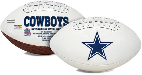 Signature Series NFL Dallas Cowboys Autograph Full Size Football