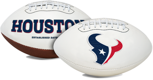 Signature Series NFL Houston Texans Autograph Full Size Football
