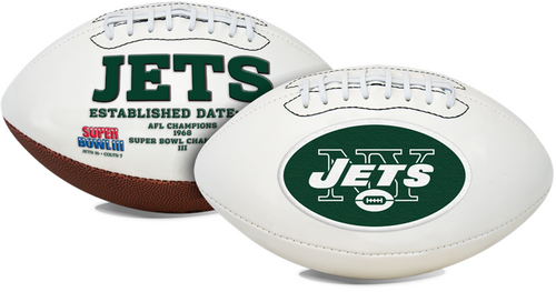 Signature Series NFL New York Jets Autograph Full Size Football