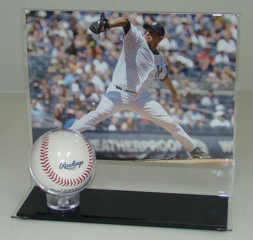 8 x 10 Horizontal Photo and Baseball Display