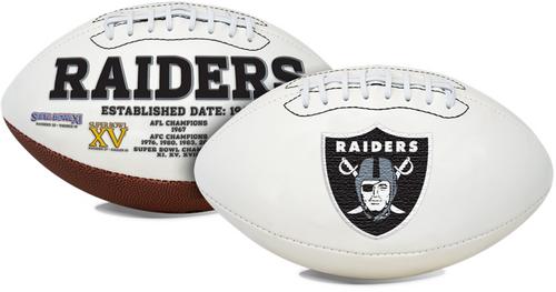 Signature Series NFL Las Vegas Raiders Autograph Full Size Football