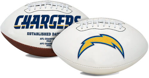 Signature Series NFL Los Angeles Chargers Autograph Full Size Football