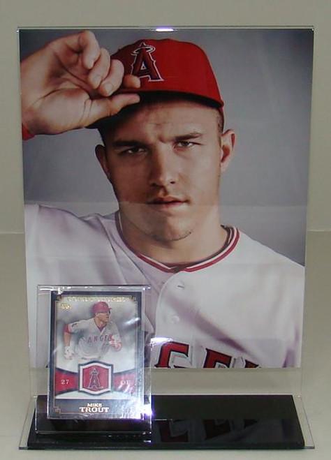 8 x 10 Vertical Photo and Baseball Card Display