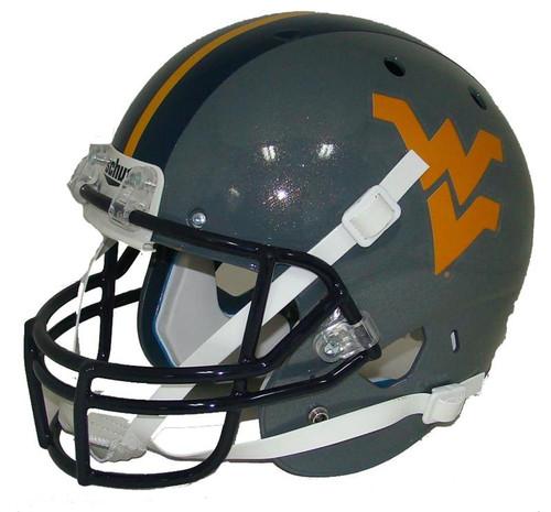 West Virginia Mountaineers Schutt Alternate Gray Full Size Replica XP Football Helmet